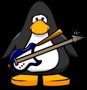 Blue Electric Bass Player Card