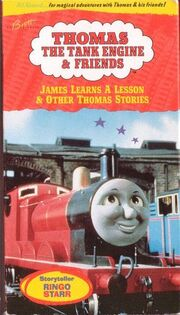 JamesLearnsaLesson1995VHS Thomas The Tank Engine And Friends