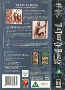 The Thief of Bagdad (UK VHS 1991) Back cover and spine