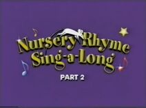 Nursery Rhyme Sing-A-Long - Humpty Dumpty and Other Favourites (UK VHS 1999) Title card 2