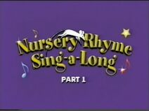 Nursery Rhyme Sing-A-Long - Humpty Dumpty and Other Favourites (UK VHS 1999) Title card 1