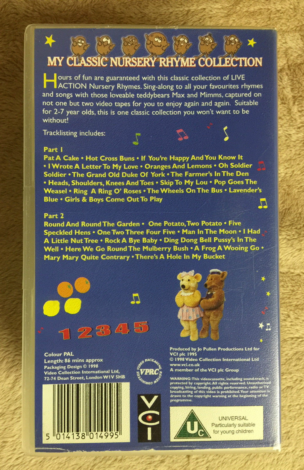 Image My Clic Nursery Rhyme Collection Double Vhs 57 1 Jpg