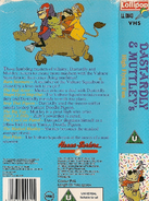 Dastardly and Muttley's High Flying Fun (UK VHS 1989) Back cover and spine