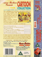 Bedtime Stories - The Cartoon Collection (UK VHS 1989) Back cover and spine