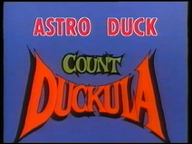 Count Duckula - Astro Duck (UK VHS 1990) Title card