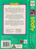 Sooty - Three Men In A Boat and Other Stories (UK VHS 1992) Back cover and spine