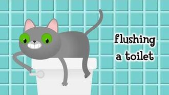 Cat Flushing A Toilet Lyric Video - Parry Gripp and Nathan Mazur