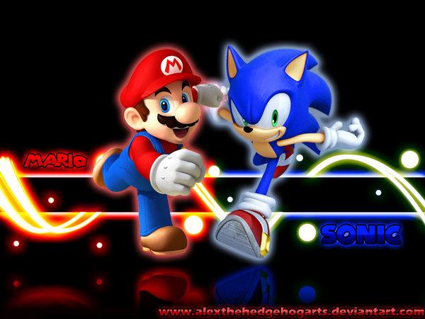 Image Mario And Sonic Wallpaper By Alexthehedgehogarts D2ygxru 1