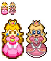 Hd princess peach sprite by rh93535hq-d4ukt49