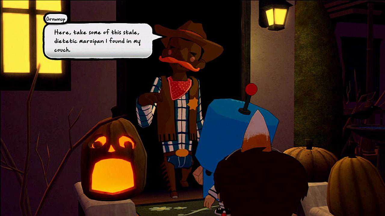 Costume Quest Gameplay Clip Reynold Gets Stolen