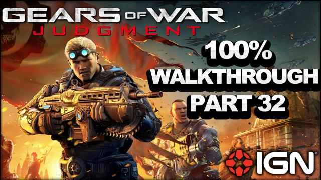 Gears of War Judgment Walkthrough - State Street Rooftops- Declassified Mission and Cog Tag (Part 32)