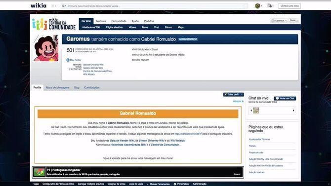 Wikia University - Editando a sua página de usuário