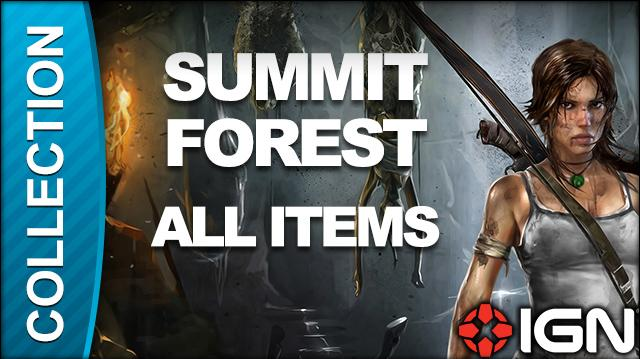 Tomb Raider Walkthrough - Collectible Locations Summit Forest