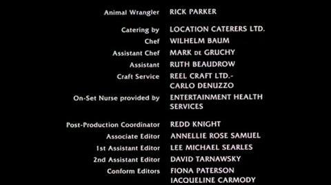 Bride of Chucky - closing credits Part 2