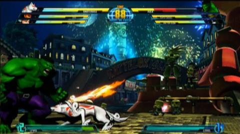 Marvel vs. Capcom 3 Fate Of Two Worlds (VG) (2011) - Amaterasu Gameplay Trailer