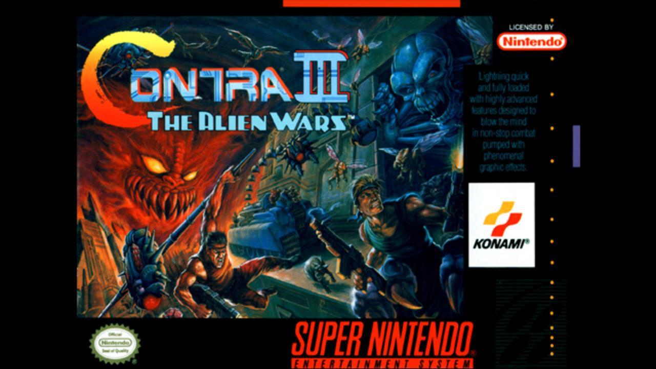 Contra III The Alien Wars First Level Mayhem