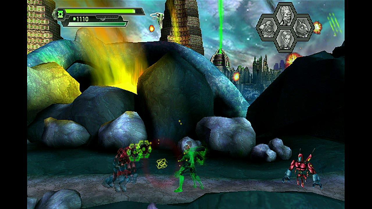 Green Lantern Rise of the Manhunters Fighting Off Manhunters Gameplay