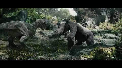 King kong - King Kong vs. dinosaurs