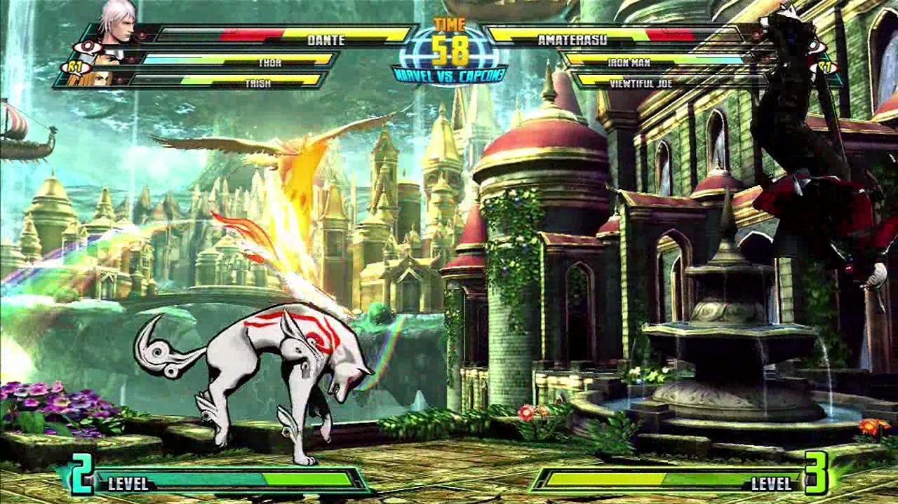 Marvel Vs. Capcom 3 Fate of Two Worlds - Amaterasu vs. Dante