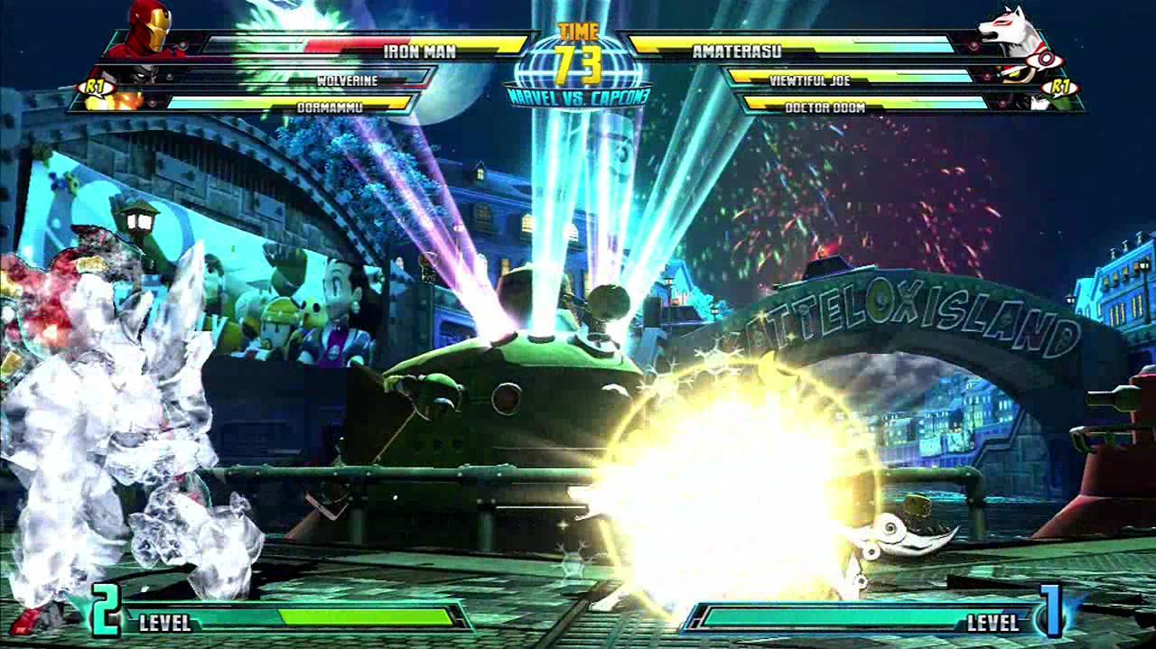Marvel Vs. Capcom 3 Fate of Two Worlds - Viewtiful Joe and Amaterasu Team Up