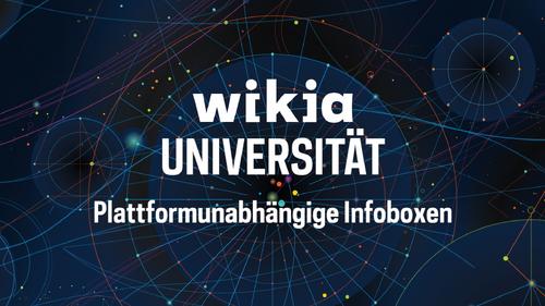 Wikia-Universität - Plattformunabhängige Infoboxen