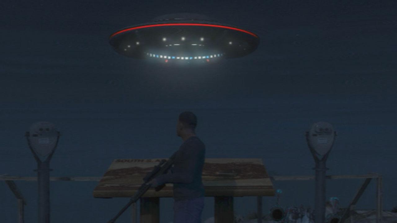 GTA 5 Mount Chiliad UFO Gameplay Clip
