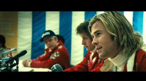 Rush (2013) - Clip Hunt and Lauda answer press questions before the last race of the season