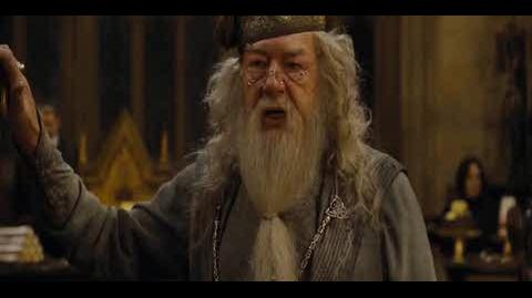 Harry Potter and the Goblet of Fire - Dumbledore's speech