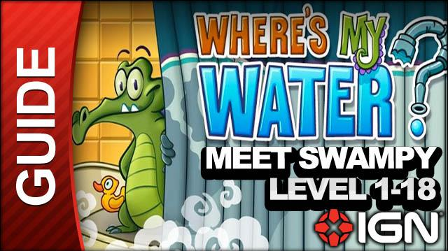 Where's My Water? (iPad) - Meet Swampy - Level 1-18 Flip the Switches
