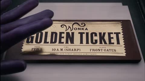 Charlie and the Chocolate Factory - Placing The Golden Ticket