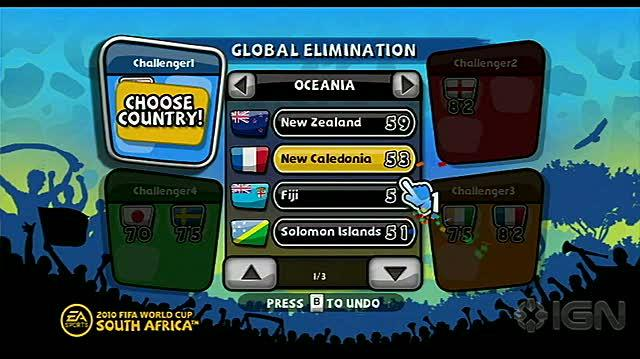2010 FIFA World Cup South Africa Nintendo Wii Video - Global Elimination Tutorial