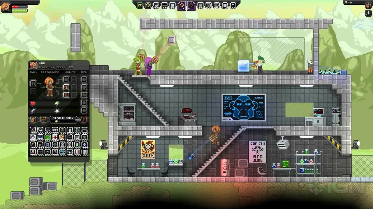 Starbound - Building Demo