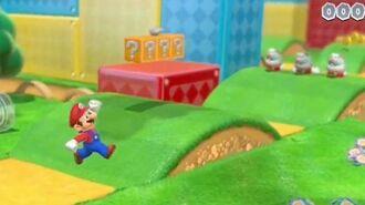 Super Mario 3D World - Mario Offscreen Gameplay E3 2013