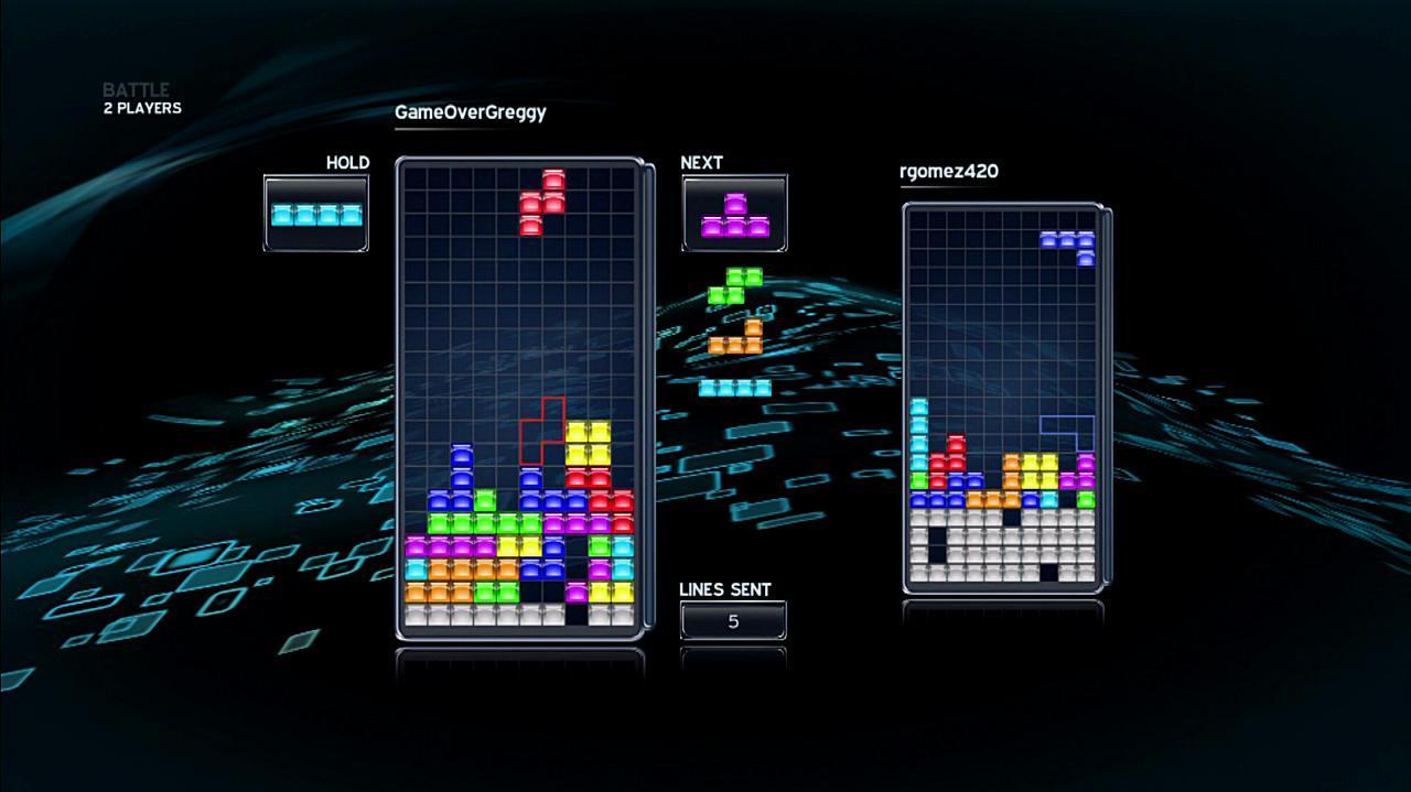 Tetris Head to Head Gameplay
