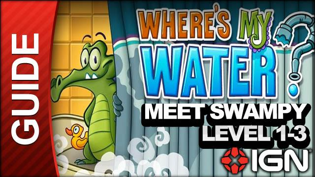 Where's My Water (iPad) - Meet Swampy - Level 1-3 Choose Wisely