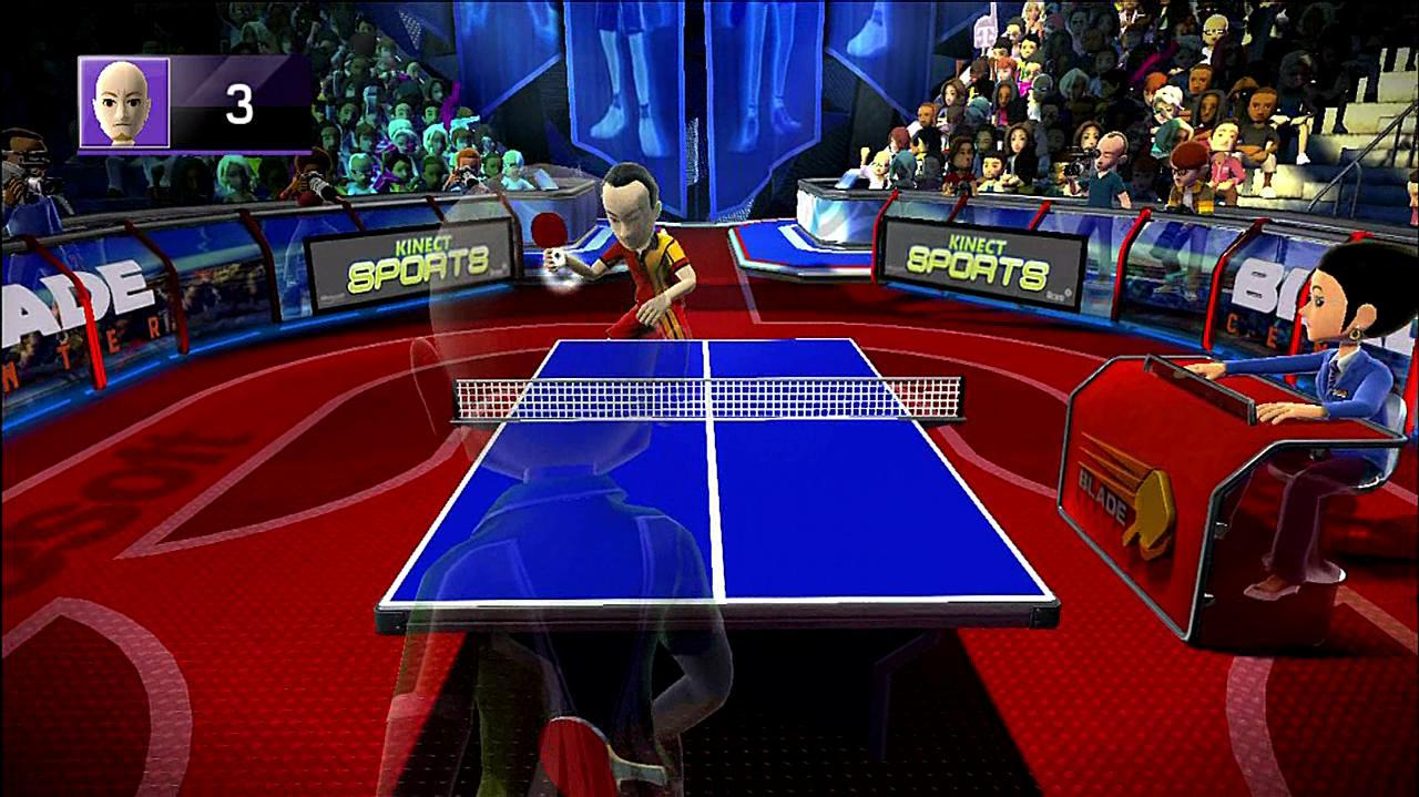 Kinect Sports Table Tennis Gameplay