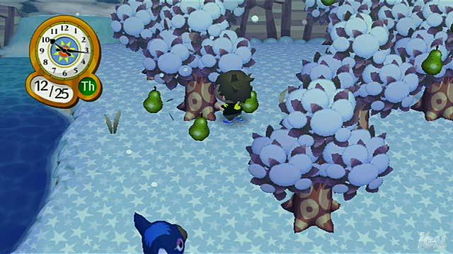Animal Crossing City Folk Nintendo Wii Gameplay - Winter Fruit Picking