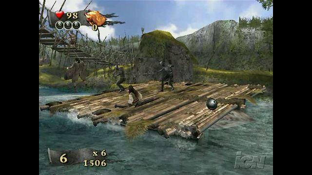 Pirates of the Caribbean At World's End Nintendo Wii Gameplay - Fighting on the Raft