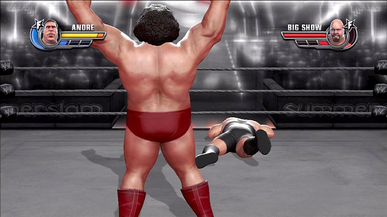 WWE All Stars Old School Andre KO