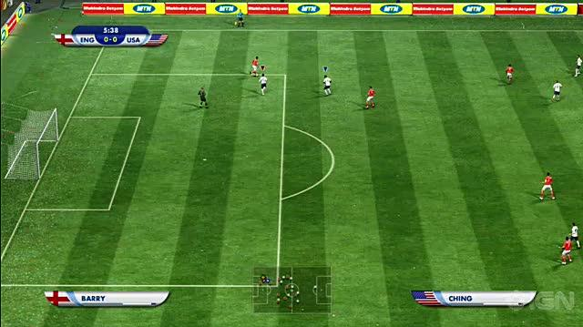2010 FIFA World Cup South Africa Xbox 360 Gameplay - USA vs. England Goal 1
