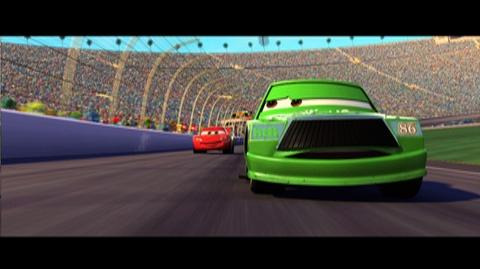 Cars Blu-ray Combo Pack (2006) - Clip Lightning Catches Up