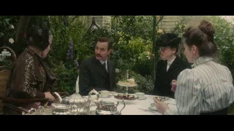 Miss Potter - tea in the garden
