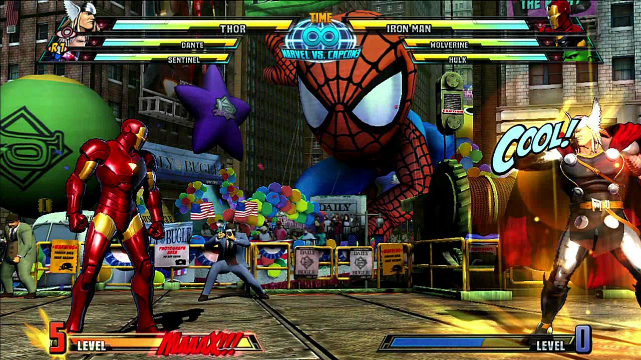 Marvel vs. Capcom 3 Thor Gameplay