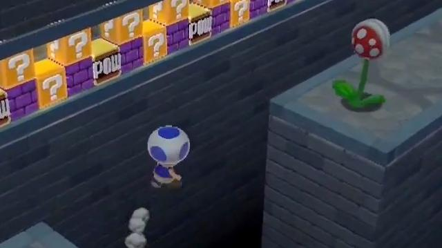 Super Mario 3D World - Toad Offscreen Gameplay E3 2013