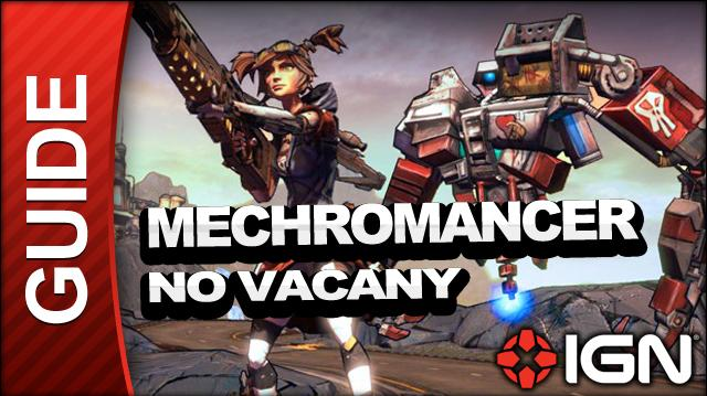 Borderlands 2 Mechromancer Walkthrough - No Vacancy - Side Mission