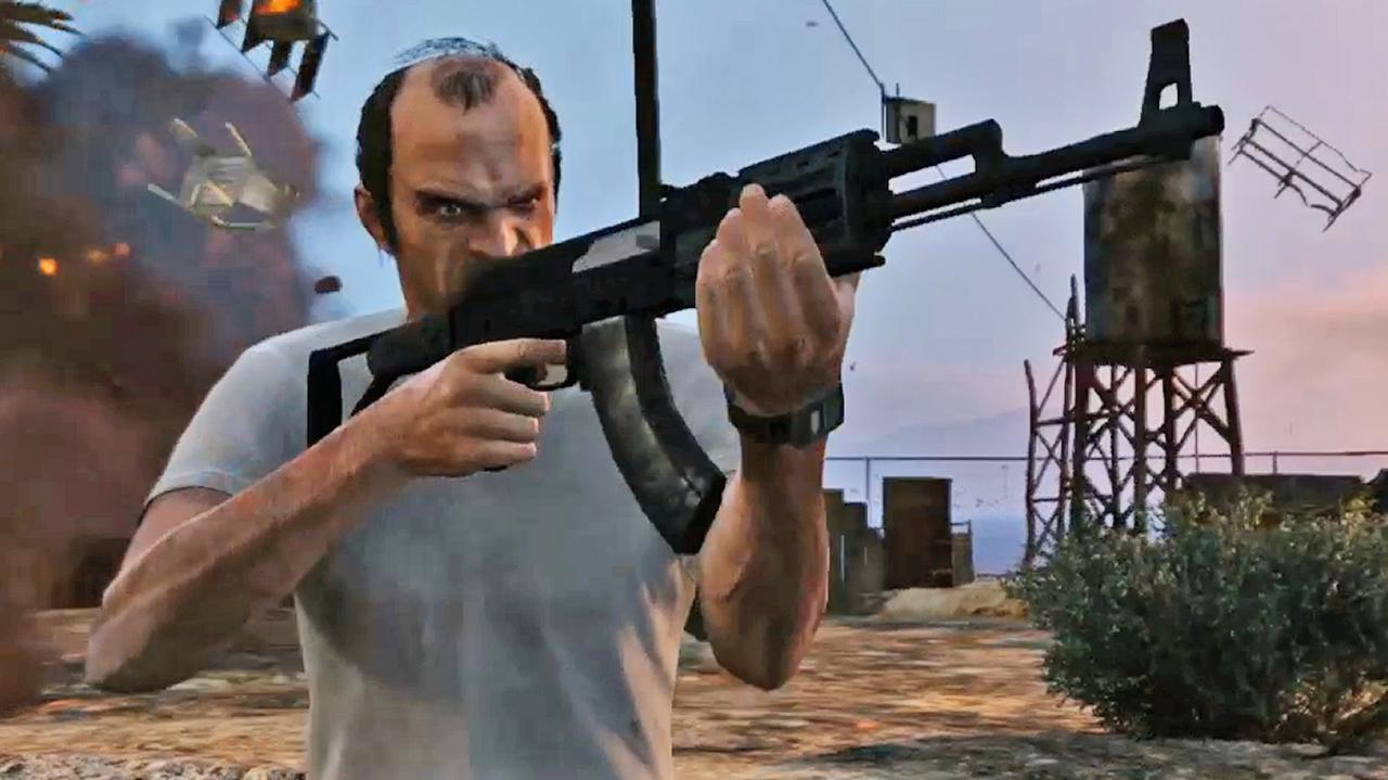 Grand Theft Auto V Official Trailer Rewind Theater