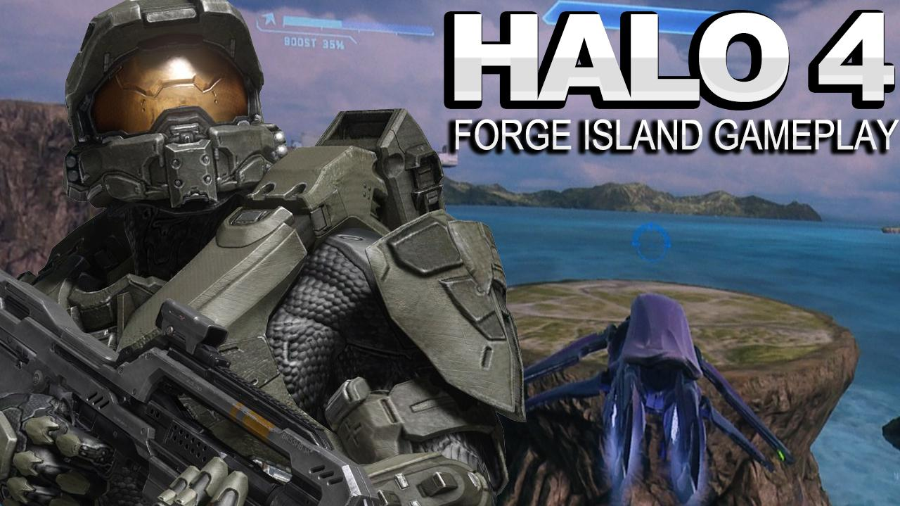 Halo 4 Forge Island Map Gameplay - PAX East