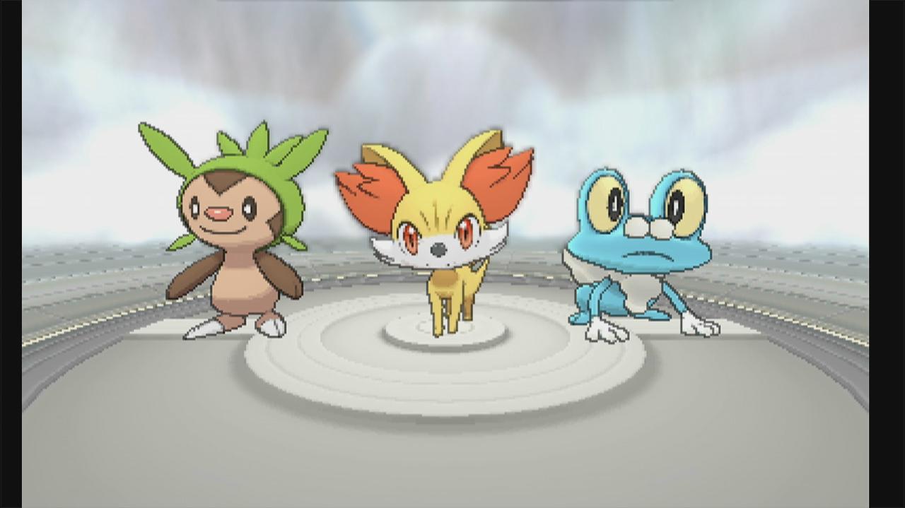 Pokemon X and Y Choosing a Starter Pokemon