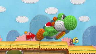 Playing Yoshi's Woolly World Cooperatively
