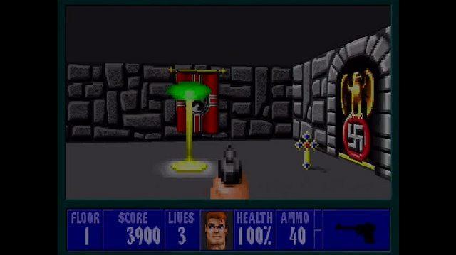 Wolfenstein 3-D Xbox Live Gameplay - Floor 1